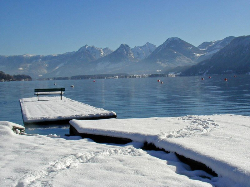 Winter am Wolfgangsee - Quelle: WTG